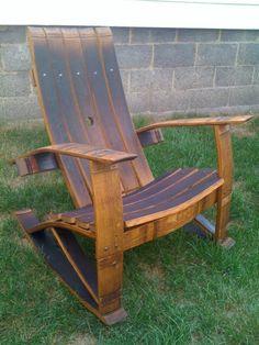 Wine Barrel Stave Rocking Chair
