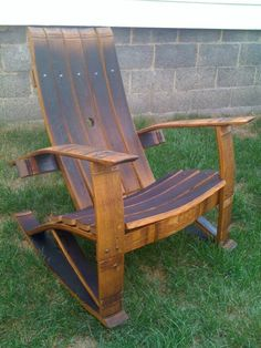 Wine Barrel Stave Rocking Chair