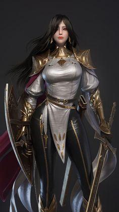 Fantasy Art Women, Beautiful Fantasy Art, Dark Fantasy Art, Fantasy Girl, Fantasy Female Warrior, Female Armor, Fantasy Armor, Warrior Girl, Female Character Concept