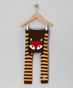 Brown & Yellow Fox Leggings by Doodle Pants on #zulily today!