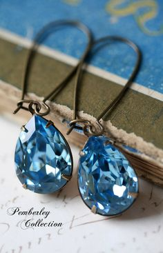 aquamarine earrings - love the whole Pemberley Collection.