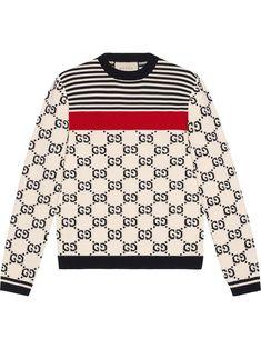 32ffcb44 Gucci GG intarsia cotton sweater - Gucci Sweater - Ideas of Gucci Sweater  #sweater #