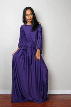 Purple Maxi Dress by Nuichan