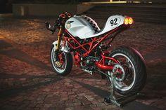 2005 Ducati S2R800 Cafe Racer for sale in Kwidzyn, Poland. Cafe Racer based on Monster S2R800 2005 model. The bike has: GSXR1000 K4 Forks,  GSXR1000 K4 Brake calipers, Aceel clip-on bars, 320mm brake discs and much more.
