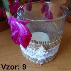Sklenený svietnik Jarko - Sviečka - S čajovou sviečkou (plus 0,10€), Vzor - Vzor 9