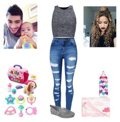 """Helping Zayn take care of his Goddaughter"" by queenroyal54 ❤ liked on Polyvore featuring WithChic, Skechers, Alice + Olivia, Handle, VTech and Nordstrom"