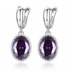 Luxury Big Stone Drop Earrings