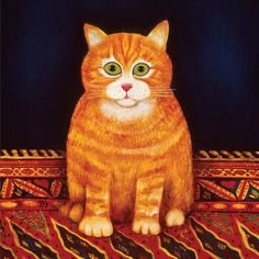 """Martin Leman - Cat on the Mat  This print was on my wall in the 80s. Remember when """"on my wall """" meant """"on my ACTUAL"""" wall?"""