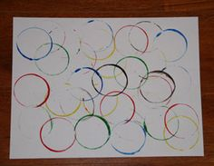 Olympics craft for kids. Make the olympic circles with this simple and fun craft. All you need is a little paint, some dixie cups and some time to have some fun! Fun Crafts, Crafts For Kids, Arts And Crafts, Olympic Crafts, Art Projects, Projects To Try, Olympics, Art Classroom