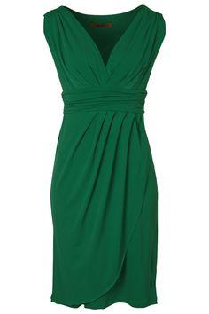 Martini clothing All Woman V Neck Drape Dress - Womens Knee Length Dresses at Birdsnest