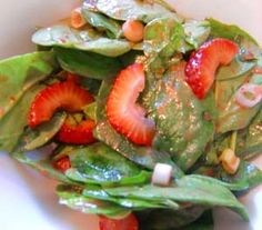 Strawberry Spinach Salad and Strawberry Vinaigrette Dressing