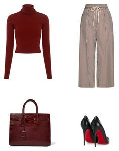 """""""Senza titolo #24"""" by annadallolio ❤ liked on Polyvore featuring 3.1 Phillip Lim, A.L.C., Christian Louboutin and Yves Saint Laurent"""