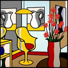 Interior With Yellow Chair  Roy Litchenstein  1993