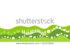 Ecology and environment conservation concept with Eco green urban city and sustainable,Vector illustration. Eco Green, Urban City, Ecology, Conservation, Environment, Concept, Illustration, Illustrations, Environmental Science