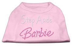 MiragePet Dog Pet Puppy Step Aside Barbie Design Shirt Dress Costumes Light Pink Small Size - 10