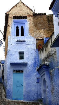 Chefchaouen, Morocco Capetown Marrakech, Morocco Dyes and pigments of Morocco Marrakech, Oh The Places You'll Go, Places To Travel, Beautiful Buildings, Beautiful Places, Blue City, Moroccan Style, Architecture, Windows And Doors
