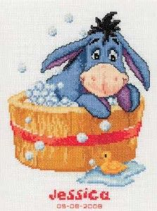Disney Counted Cross Stitch Kit - Winnie The Pooh. Baby Cross Stitch Patterns, Cross Stitch Love, Cross Stitch Fabric, Beaded Cross Stitch, Cross Stitch Alphabet, Counted Cross Stitch Patterns, Cross Stitch Charts, Cross Stitch Designs, Cross Stitching