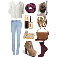 infnity scarf & wraparound watch by babygirl982012 on Polyvore featuring Forever New, Topshop, Jeffrey Campbell, Mulberry, Wet Seal, H&M and Yves Saint Laurent