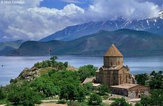 10th century Armenian church, Akhtamar Island, Lake Van     (Between 1116 and 1895 Aghtamar Island was the location of the Armenian Catholicosate of Aght'amar. Khachatur III, who died in 1895, was the last Catholicos of Aght'amar. In April 1915, during the Armenian Genocide, the monks on Aght'amar were massacred, the cathedral looted, and the monastic buildings destroyed.)