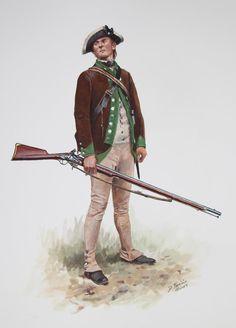 Flintlock and tomahawk: New Don Troiani image