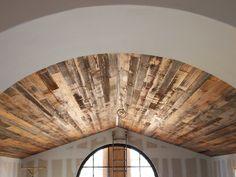 Barn wood ceiling! Beautiful!