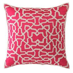 Garden Lattice Decorative Pillow 4 colors!