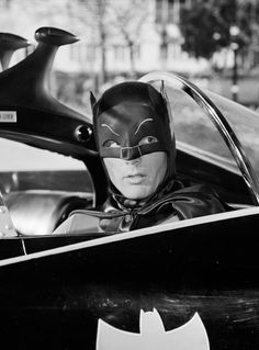 Batman Classic 1966 TV Behind The Wheel Of The Batmobile Gallery Print