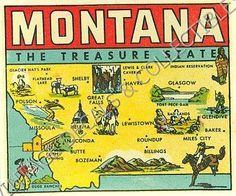 Montana. Vintage Maps, Vintage Posters, Montana Weather, Funny Hockey Memes, Miles City, Big Sky Montana, Montana Homes, Big Sky Country, Great Falls
