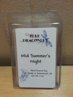 Hand Poured 3oz Mid Summers Night scented 100% soy melt