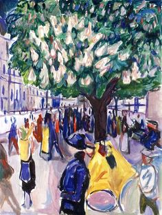 Street with Blooming Chestnut Tree Edvard Munch - 1925-1930