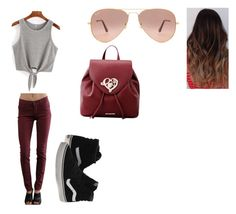 """Untitled #39"" by austynh on Polyvore featuring Vans, James Jeans, Ray-Ban and Love Moschino"