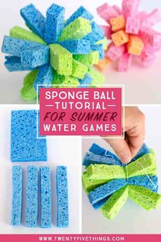 How to Make a Sponge Ball for Awesome Summer Water Games – Fun Loving Families – Kinderspiele Outdoor Water Games, Outdoor Games For Kids, Water Games For Kids, Summer Activities For Kids, Craft Activities, Diy For Kids, Crafts For Kids, Backyard Games, Indoor Activities