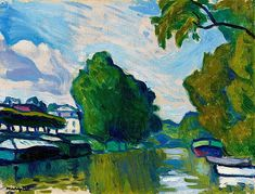 Albert Marquet – was a French painter, associated with the Fauvist movement. River Painting, Painting & Drawing, Henri Matisse, Great Paintings, Landscape Paintings, Abstract Landscape, Landscapes, Rio Sena, France Art