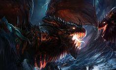 Death Growl, #Dark, #Dragon, #Drawings, #FanArt, #Games