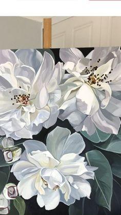 Watercolor Flowers, Watercolor Art, Jungle Flowers, Acrylic Painting Techniques, Tropical Art, Mural Wall Art, Arte Floral, Flower Art, Painting & Drawing