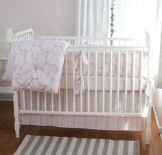 coral crib bedding etsy