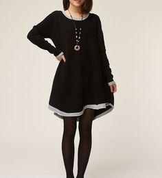 Black cotton sweater  knitwear large size by originalstyleshop