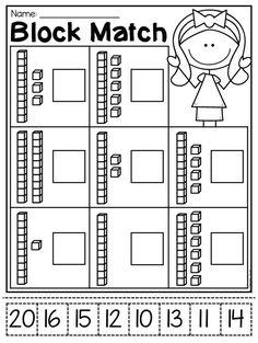 Kindergarten place value worksheets education math base ten grade 1 block number match worksheet pack this . Tens And Ones Worksheets, Place Value Worksheets, Math Place Value, Free Kindergarten Worksheets, Addition Worksheets, Place Values, Worksheets For Kids, Tracing Worksheets, Printable Worksheets