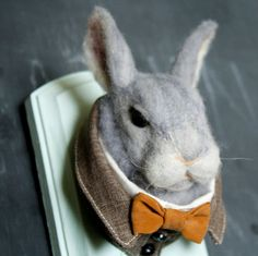 Needle+Felted+Rabbit+Taxidermy+by+LittleTeethMarks+on+Etsy,+$125.00