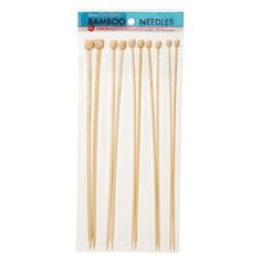 Bamboo Knitting Needles - Small Gauge - 11.8 inches - 8 Pack $4.97