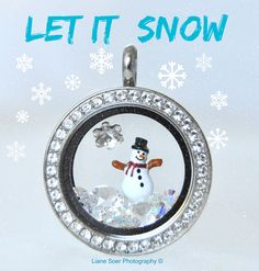 Add this snowman to your Origami Owl locket, bracelet or watch. Find him at lianesoer.origamiowl.com #OrigamiOwl #Snowman #LetItSnow