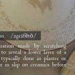 WTF is Sgraffito? Sgraffito, Hand Lettering, Bowls, Pottery, Key, Ceramics, Handmade, Inspiration, Serving Bowls