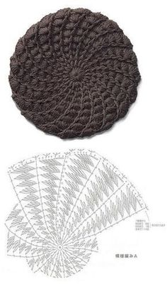 393152cd8b6 Crochet Sunburst Beret Hat Free Crochet Patterns -  Beret  Crochet ...