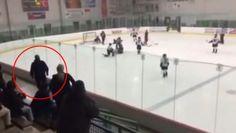 Un père se donne en show durant un match de hockey mineur http://danslaction.com/fr/un-pere-se-donne-en-show-durant-un-match-de-hockey-mineur/