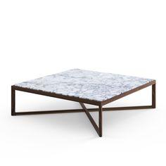 Krusin Coffee Table | Knoll - hardwood & marble