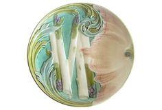 Antique Majolica Asparagus Plate II on OneKingsLane.com