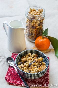 Granola Breakfast, Breakfast Time, Breakfast Recipes, Saturday Brunch, Granola Cereal, Good Food, Yummy Food, Vegan Kitchen, Muesli