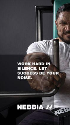"""Work hard in silence. Let success be your noise."" Instagram : @nebbia_fitness follow us for more motivation  #nebbiawear #nebbiafitness #gymwear #gymfitness #gymlife #gymmotivation #fitness #fitnessmotivation Work Hard In Silence, Mental Health Resources, Fitness Motivation Quotes, Good Vibes, Life Goals, Fun Workouts, Motivational Quotes, Success, Let It Be"