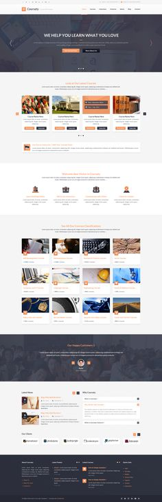 Coursaty Awesome PSD Template by begha #webdesign