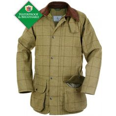 Rutland Childrens Tweed Waterproof Shooting Coat Lichen